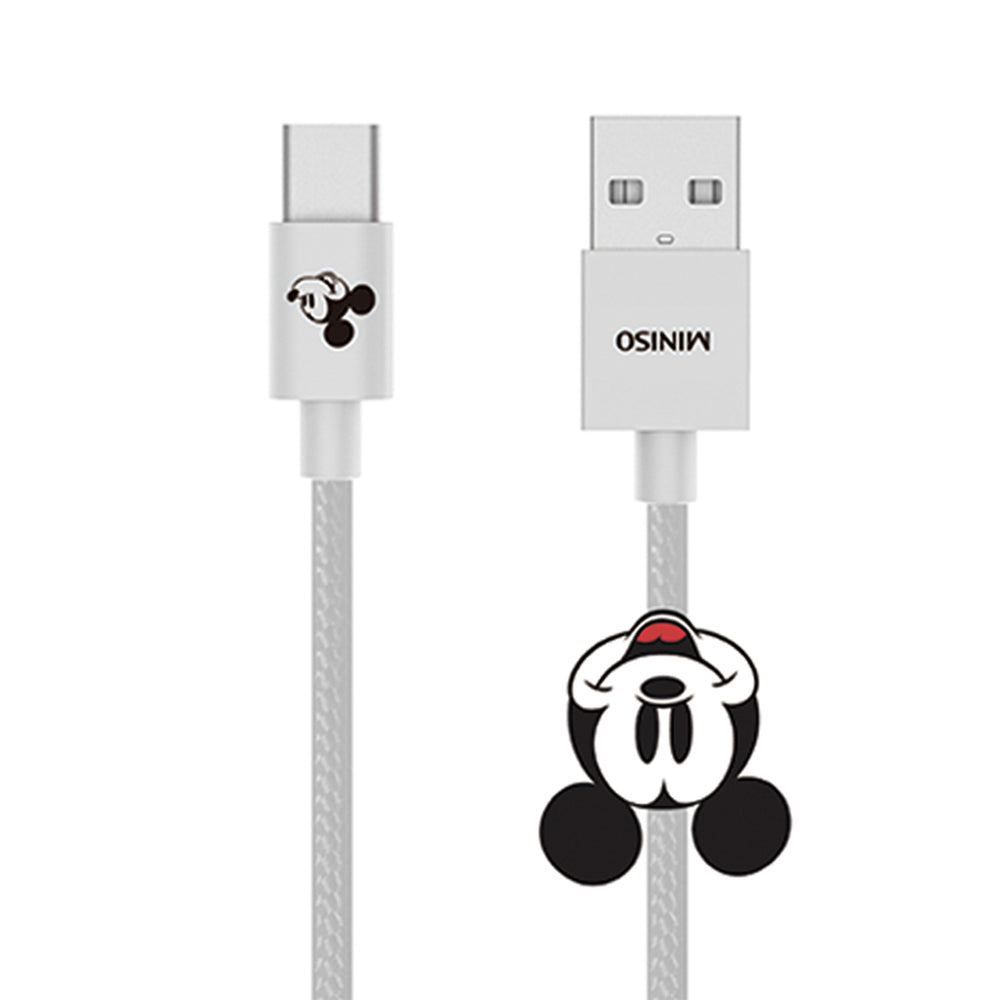 MINISO x Mickey Mouse Collection - Mickey Mouse 1m Woven Type-c Data Cable