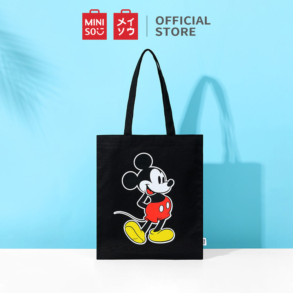 MINISO x Mickey Mouse Collection - Mickey Cartoon Tote Bag (Black)