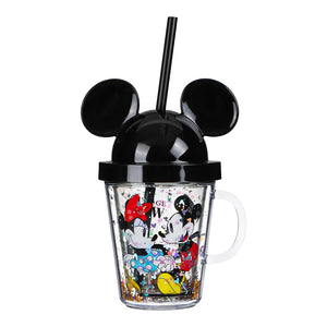 MINISO x Mickey Mouse Collection - Bottle with Straw and Lid, 280ml