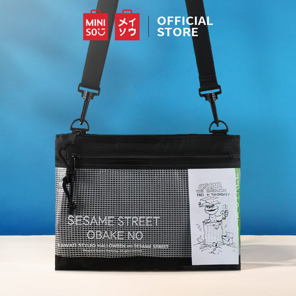 MINISO x Sesame Street - Transparent Grid Series Men's Crossbody Bag