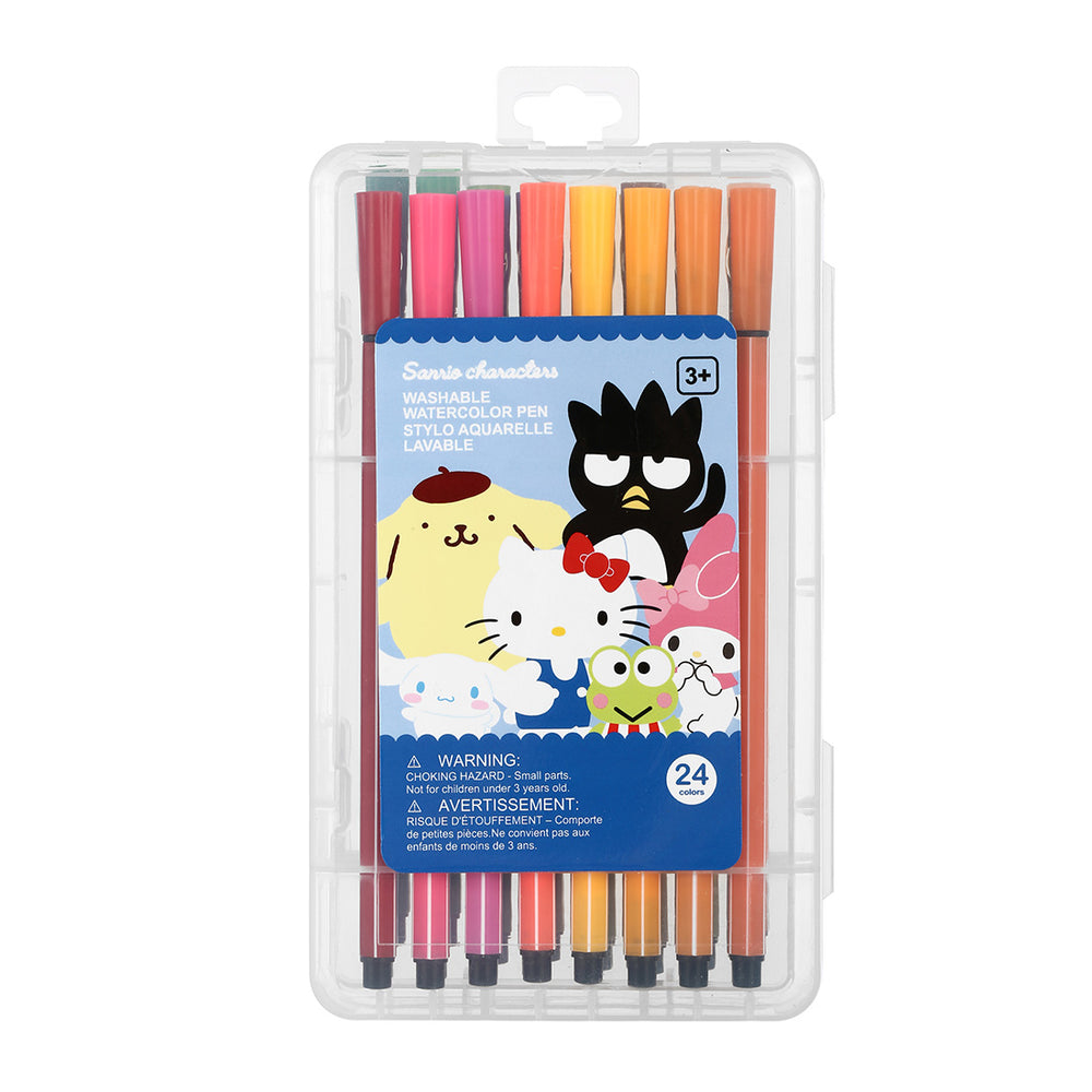 MINISO x Sanrio - Washable Watercolor Pen Set, Pack of 24 Pens