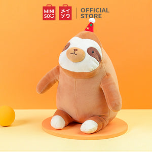 MINISO Party Hat Sloth Plush Toy