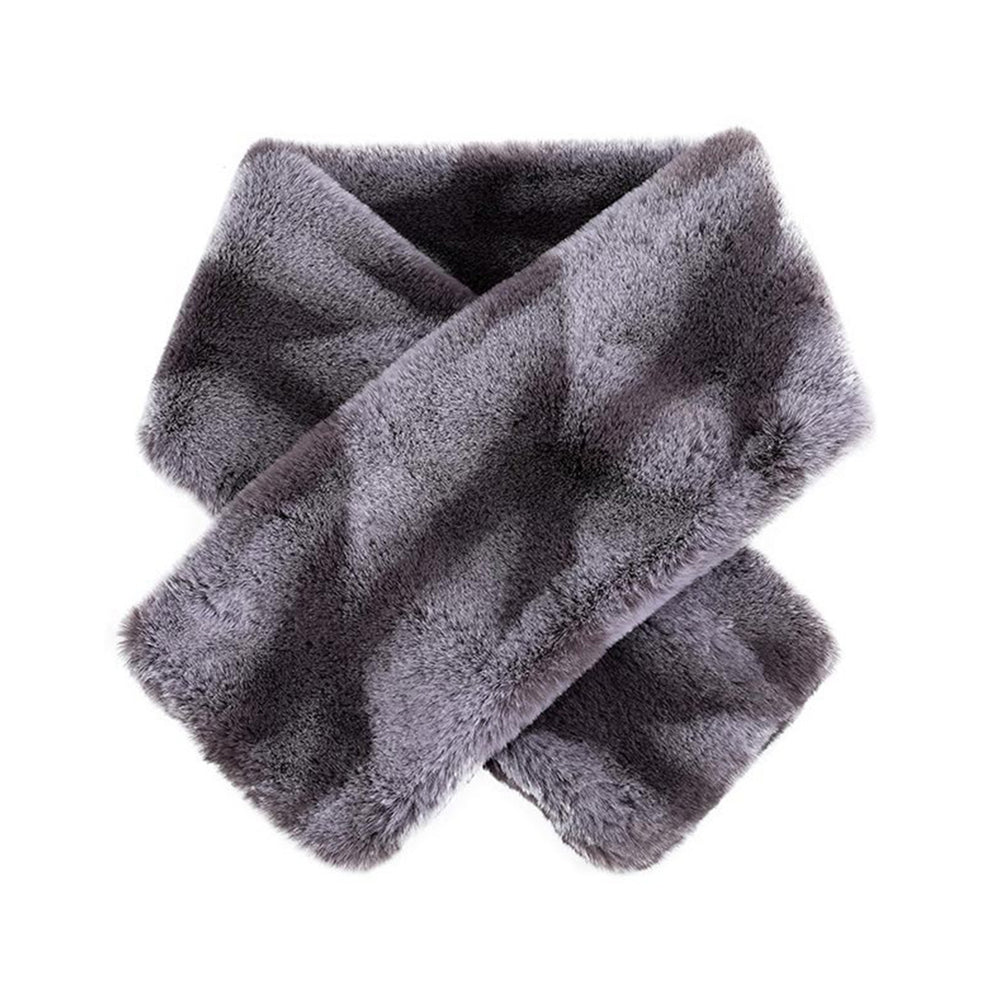 MINISO x Winter Series -  Women's Winter Plush Patterned Scarf, Random Color