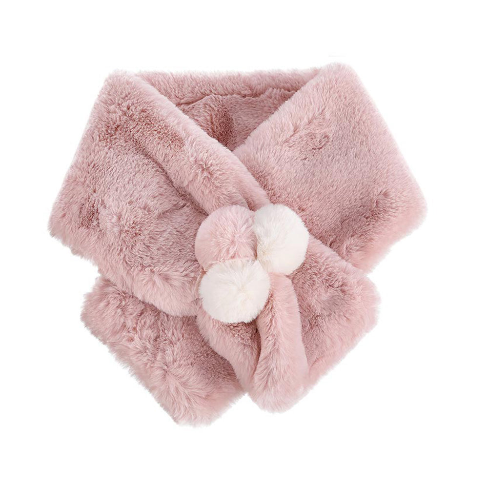 MINISO x Winter Series - Women's Winter Plush Solid Scarf, Random Color