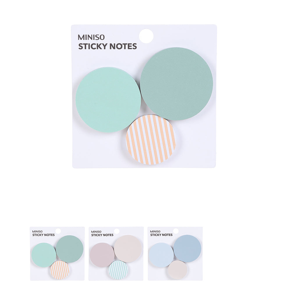 MINISO Pastel Round Sticky Notes