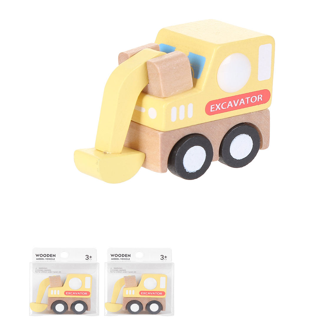 MINISO Wooden Model Vehicle Toy Toddler, Yellow