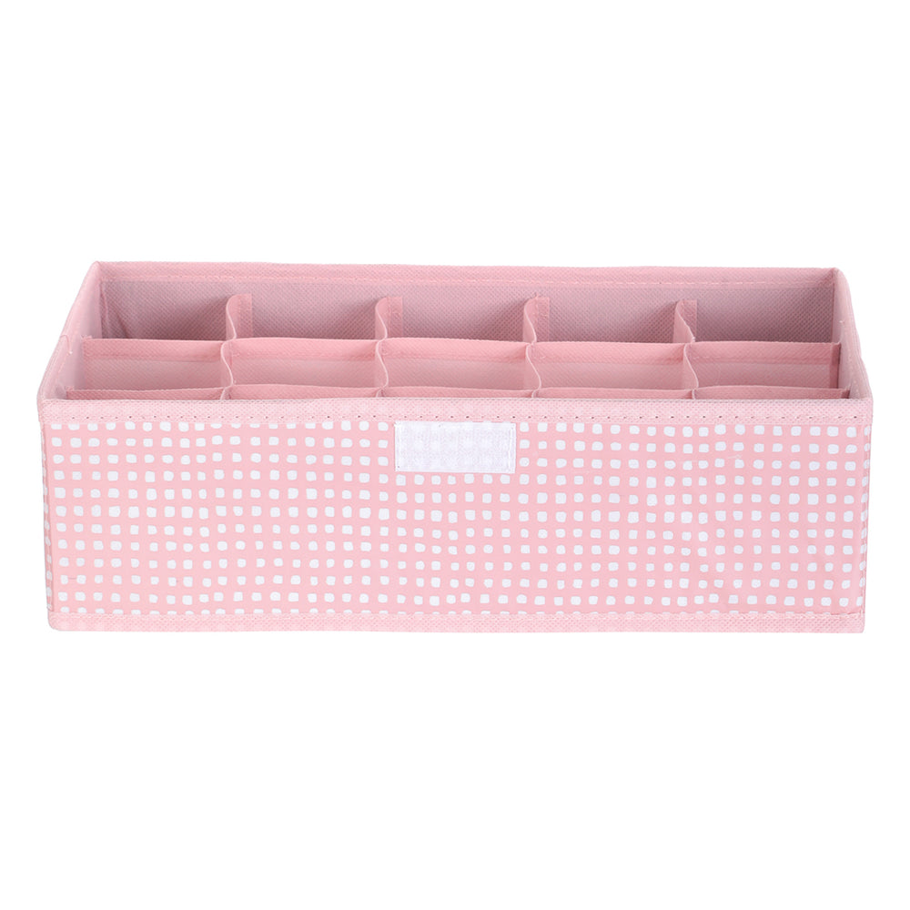 MINISO 15-compartment Socks Organizer Grid Socks Storage Box With Lid