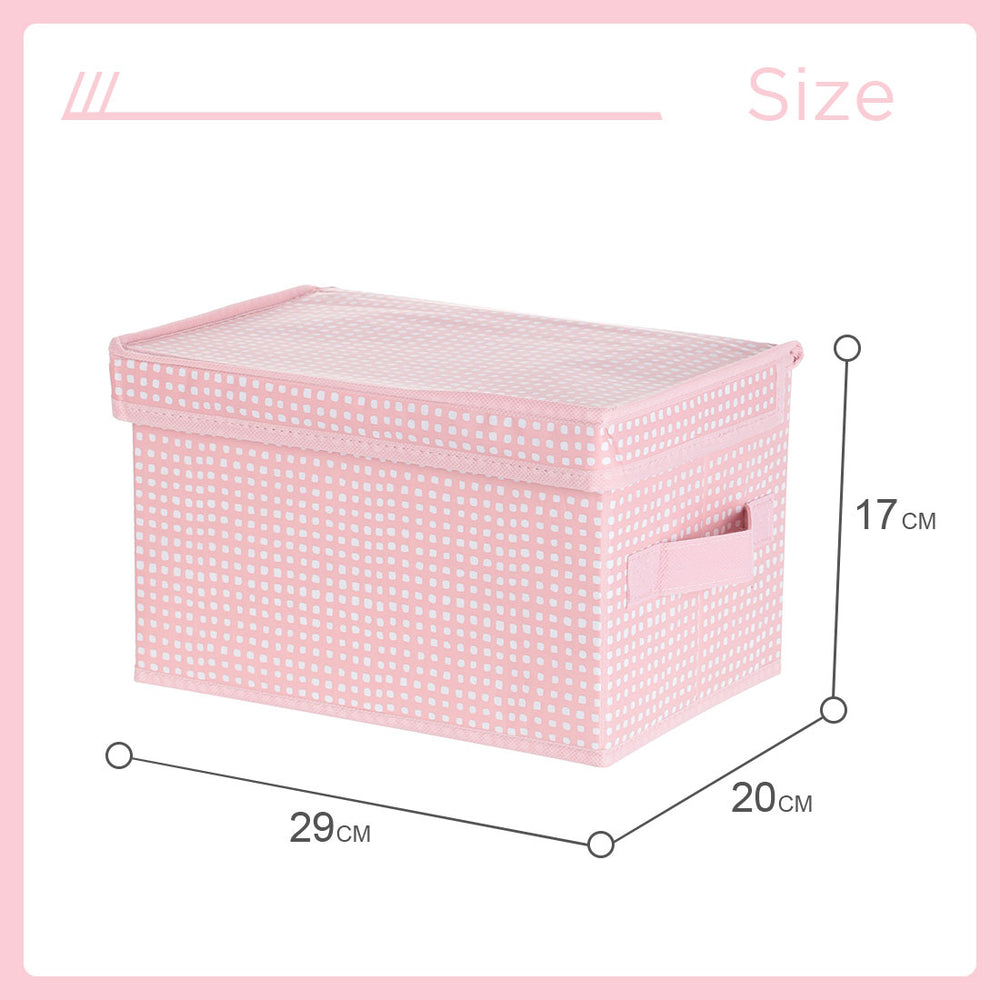 MINISO Small Foldable Fabric Storage Box with Lid