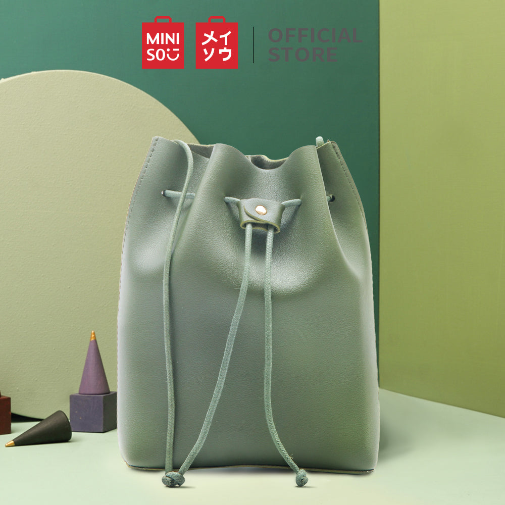 MINISO Simple Mini Bucket Bag (Green)