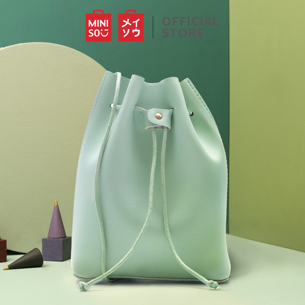MINISO - Simple Mini Bucket Bag (Light Green)