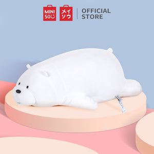 MINISO x We Bare Bears - Large Lying Plush Toy - Ice Bear