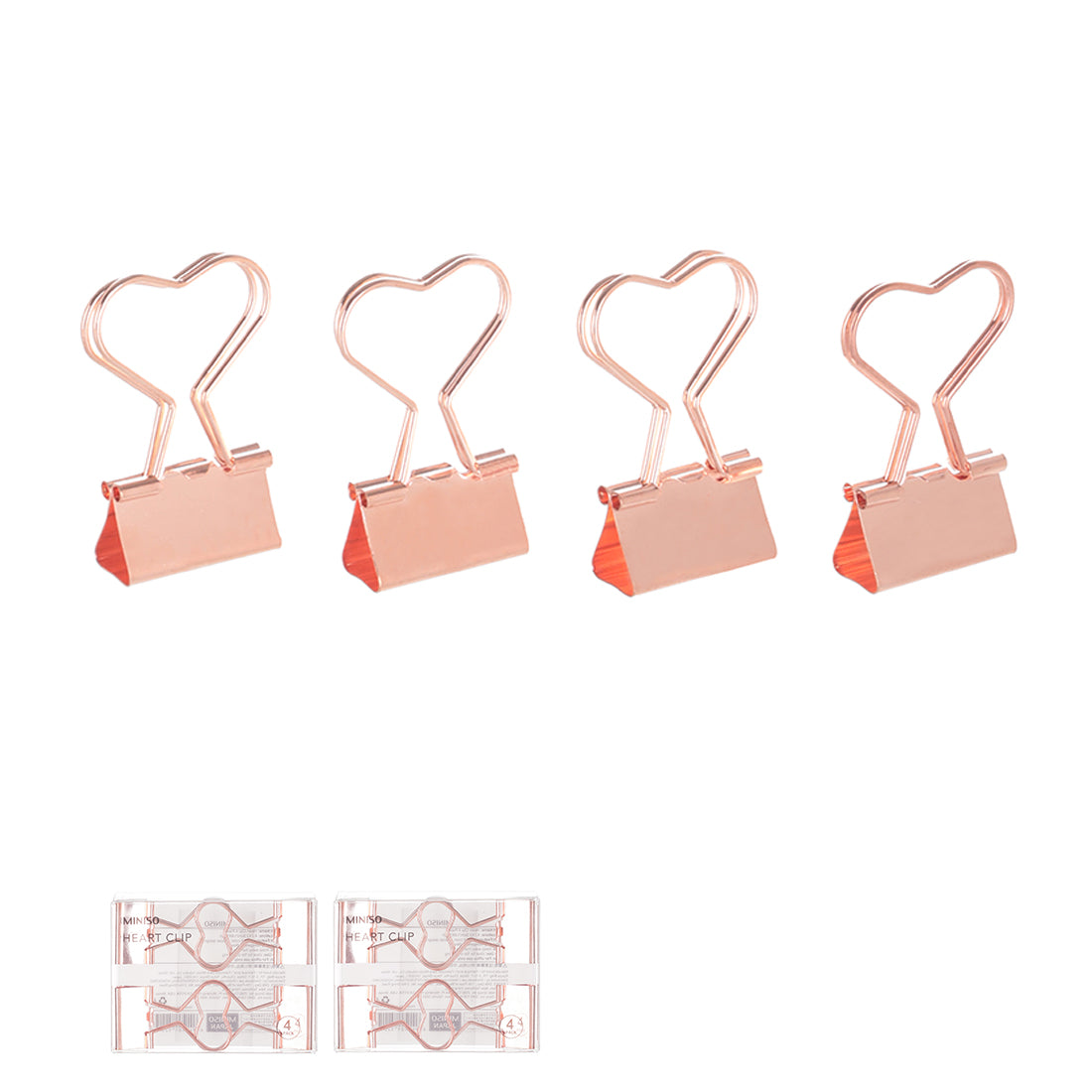 MINISO Heart Clip 4 Pack