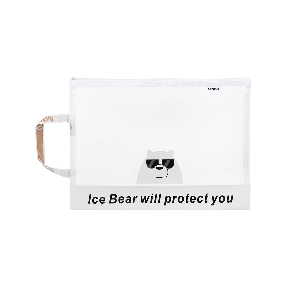 MINISO x We Bare Bears - A4 Document Bag, Random