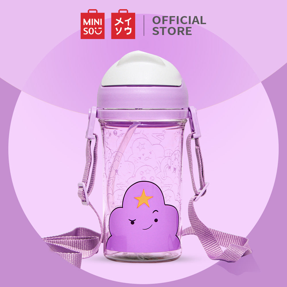 Load image into Gallery viewer, MINISO x Adventure Time - Plastic Water Bottle with Straw BPA-free, Purple