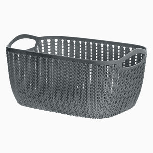 MINISO Small Plaited Rectangular Storage Bucket