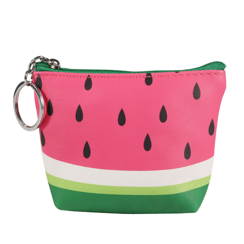 MINISO Fruit Trapezoid Coin Purse Toiletry Bag with Zipper