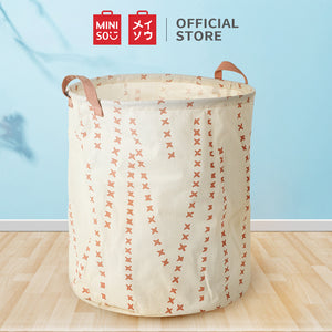 MINISO Cylinder Medium Basket Organizer Storage Boxes for Clothes Pink