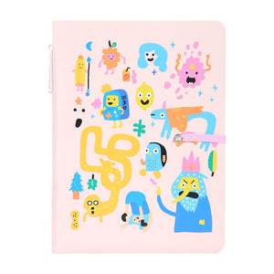 MINISO x Adventure Time - Graffiti Memo Book with Pen, 80 Sheets, Random Style