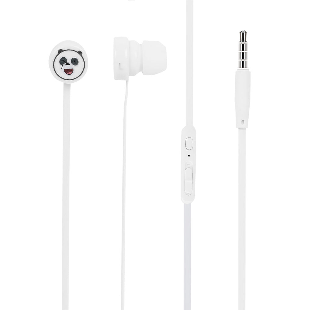 MINISO x We Bare Bears - In-Ear Headphones With Mic & Free Storage bag (Green)
