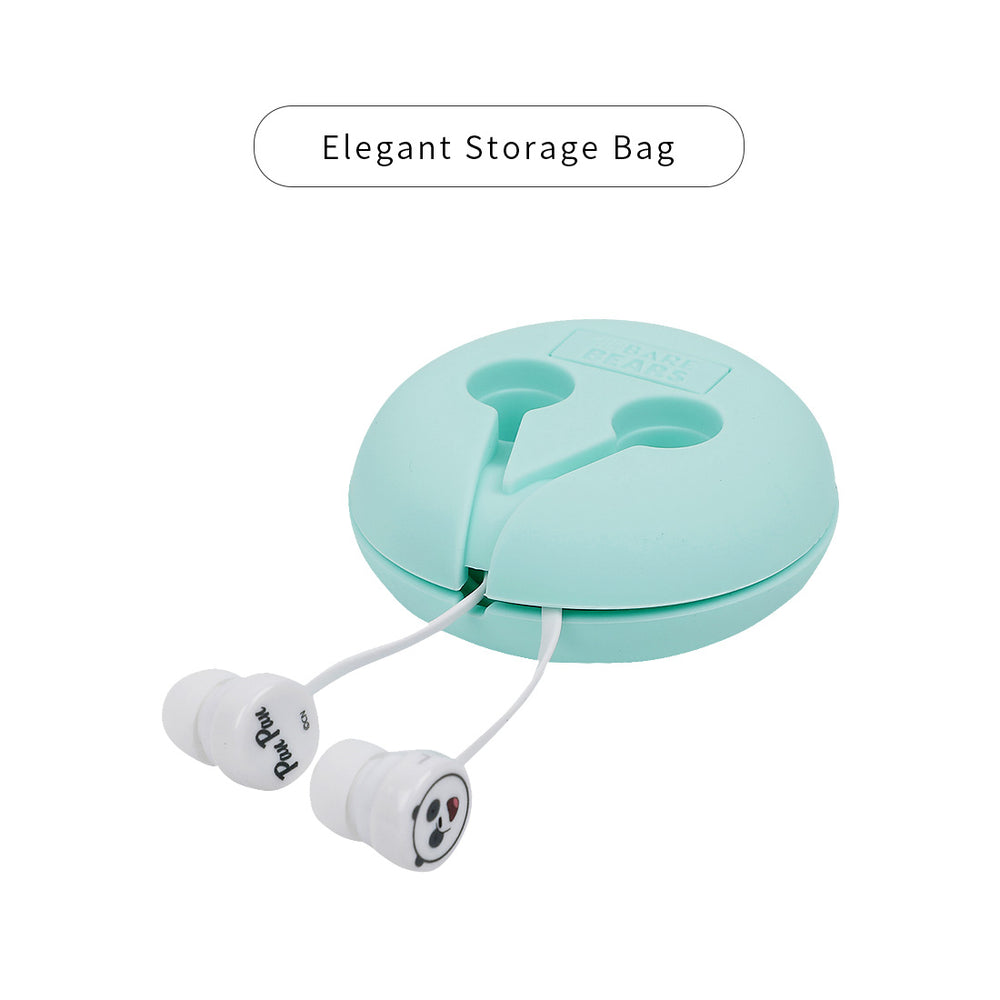 Load image into Gallery viewer, MINISO x We Bare Bears - In-Ear Headphones With Mic & Free Storage bag (Green)