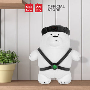 "MINISO We Bare Bears Standing Plush Toy 10"" with Hat Ice Bear"