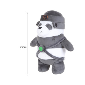 "MINISO We Bare Bears Standing Plush Toy 10"" with Hat Panda"
