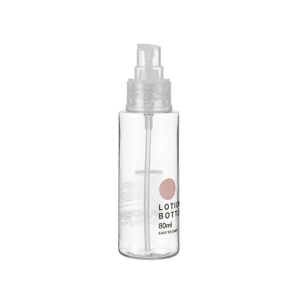 MINISO Transparent Portable Refillable Plastic Airless Pump Bottle, 80ml