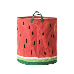 MINISO Fruit Series - Medium Storage Basket Foldable Basket Organizer, Watermelon