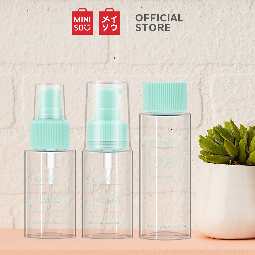 MINISO x Adventure Time - 3 piece Travel Bottle Kit, Multipurpose Refillable Bottles