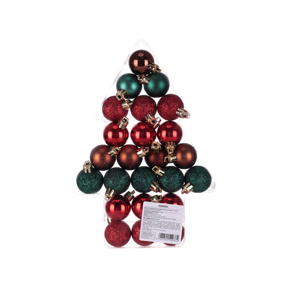 Load image into Gallery viewer, MINISO Christmas Tree Balls Ornaments Decoration Set