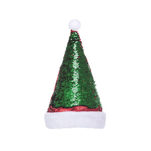 MINISO Christmas Series - Christmas Reversible Sequin Hat (Red & Blue)