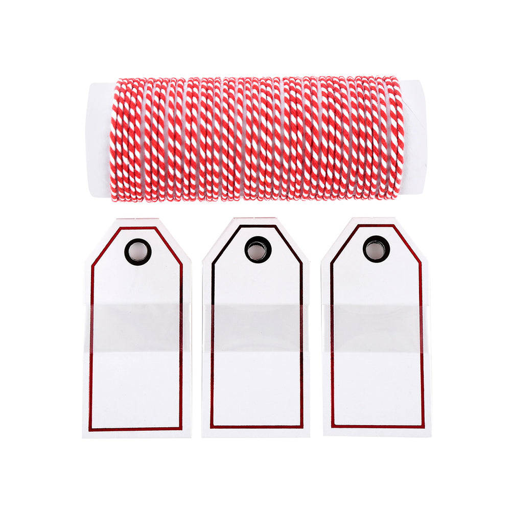 MINISO Christmas Card and Red Decoration String Set for Christmas Party