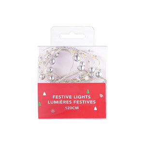 MINISO Pearl String Lights, 3.9 ft LED Battery Powered