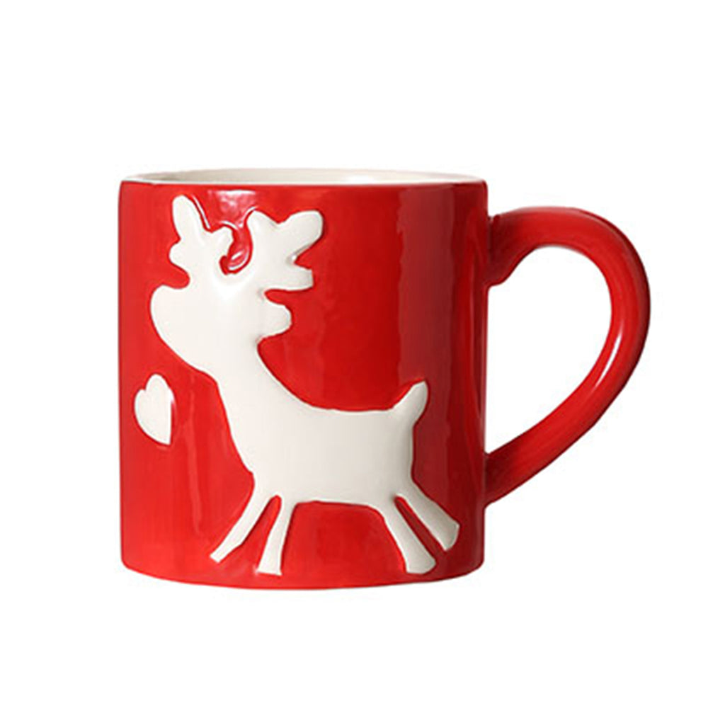 MINISO Christmas Reindeer Red Mug