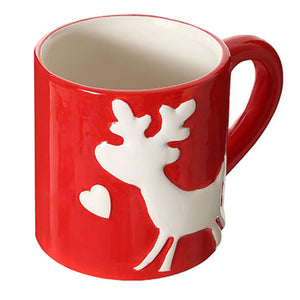 Load image into Gallery viewer, MINISO Christmas Reindeer Red Mug