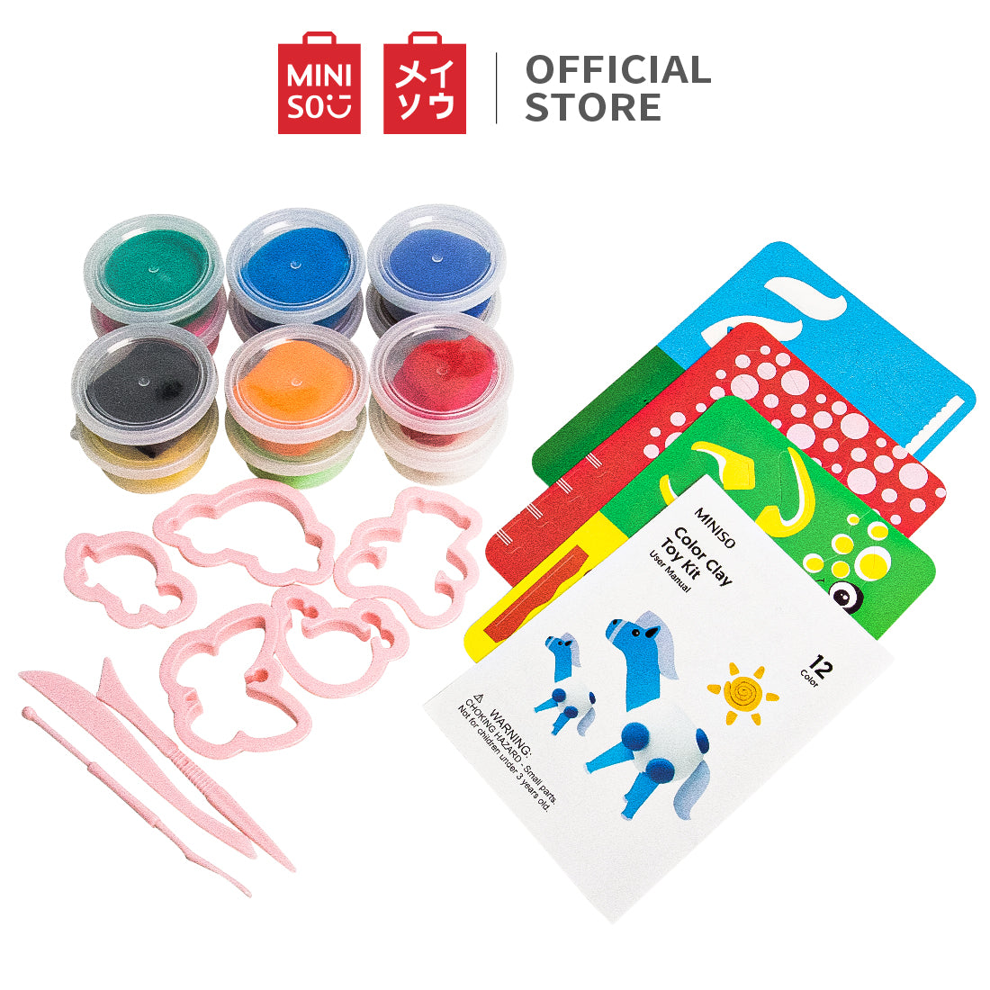 MINISO 12 Colors Crystal Slime Making Kit