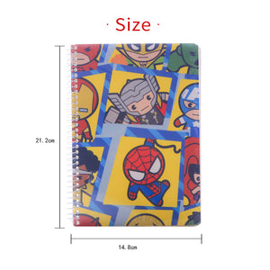 MINISO Marvel Cartoon Series Ultimate Notebook Wirebound Book 100 Sheets