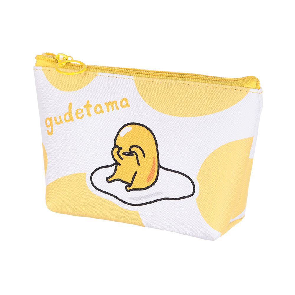 MINISO x Sanrio - Gudetama Cosmetic Multifunctional Toiletry Makeup Bag