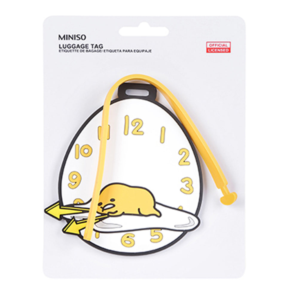 MINISO x Sanrio - Gudetama with Clock Luggage Tag