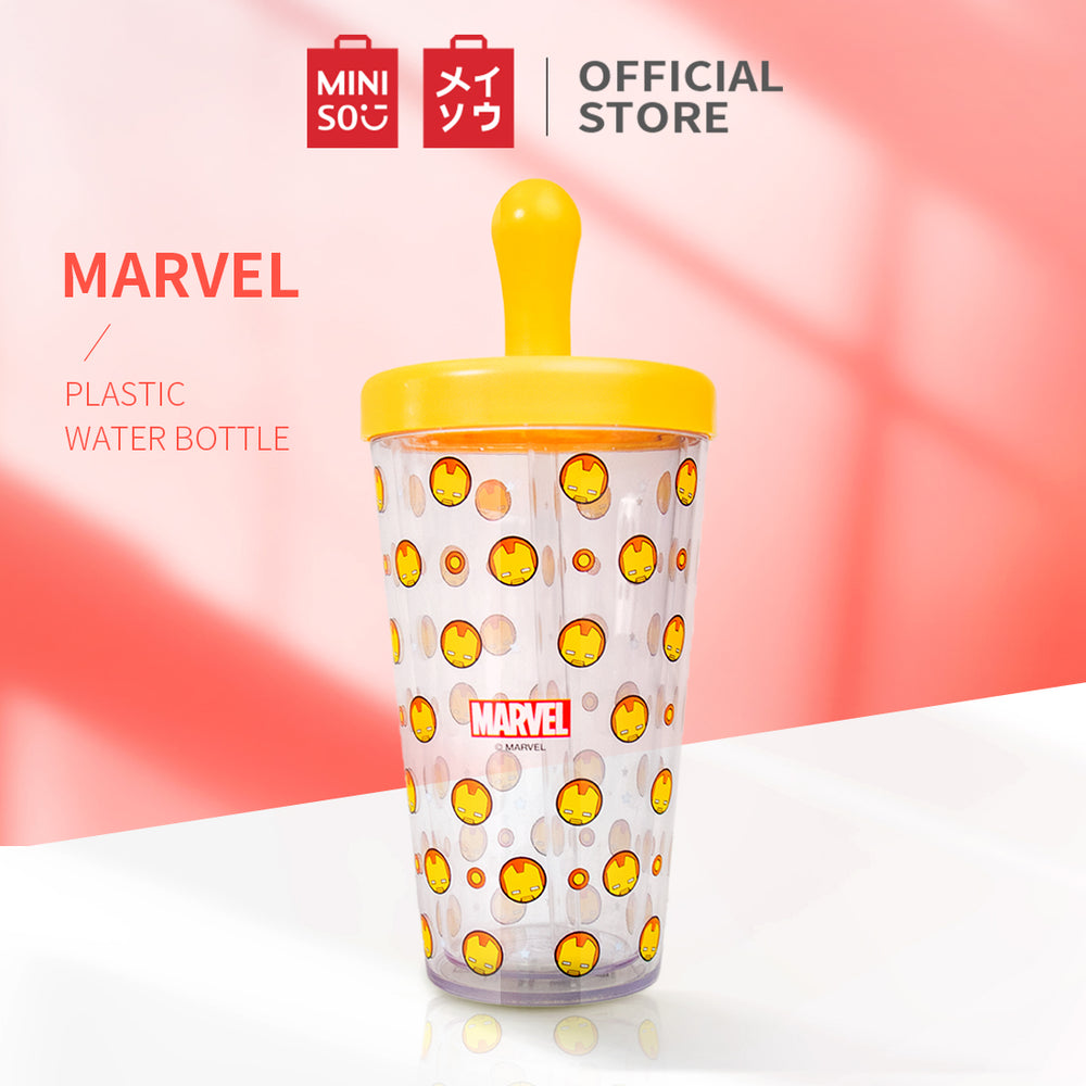 MINISO x Marvel - Plastic Water Bottle 420ml (Iron Man)