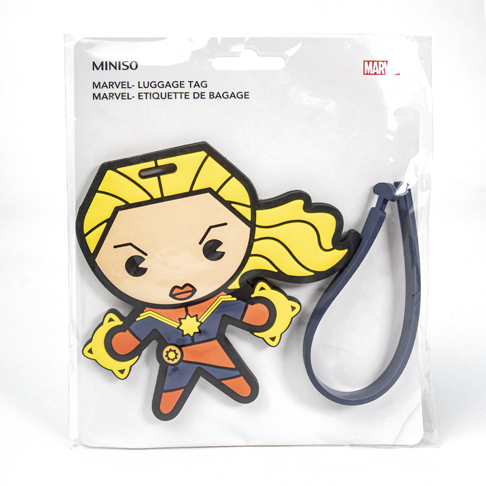 MINISO x Marvel - Avengers Superhero ID Luggage Tag - Captain Marvel