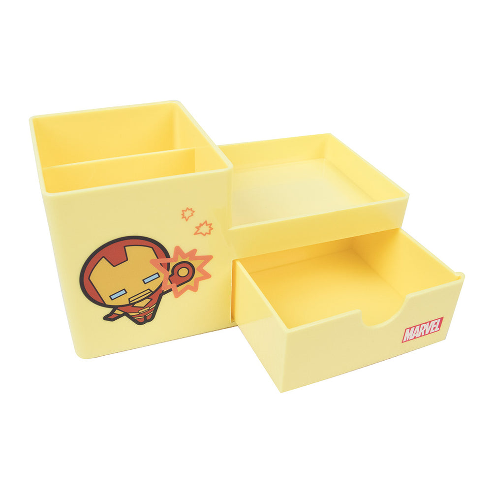 MINISO x MARVEL - Stationery Organizer with Drawer (Iron Man)