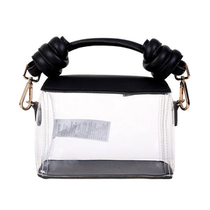 MINISO Square Clear Handbag with Metal Buckle