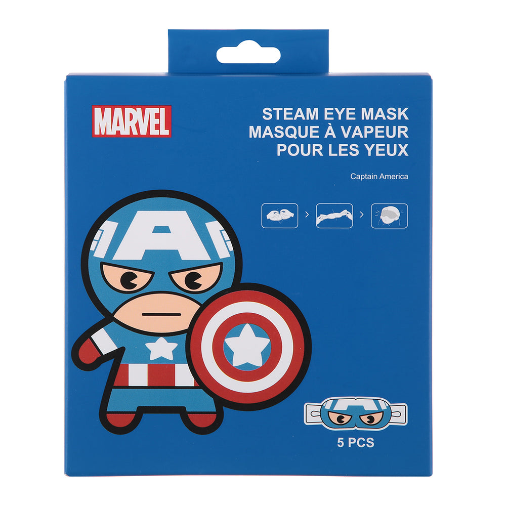 MINISO x Marvel - Steam Eye Mask - Captain America, 5 Pcs