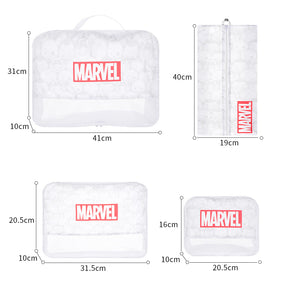 MINISO x Marvel - Foldable Travel Toiletry Bag with Zipper, Set of 4