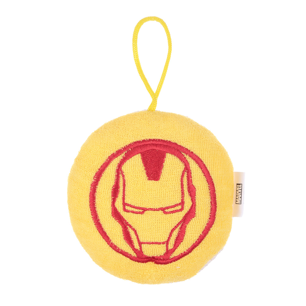 MINISO x Marvel - Exfoliating Loofa Bath Sponge, Iron Man and Captain America, Random Color