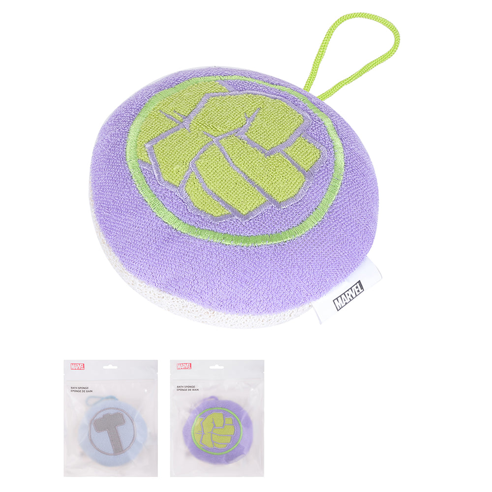 MINISO x Marvel - Exfoliating Loofa Bath Sponge, Thor and Hulk, Random Color