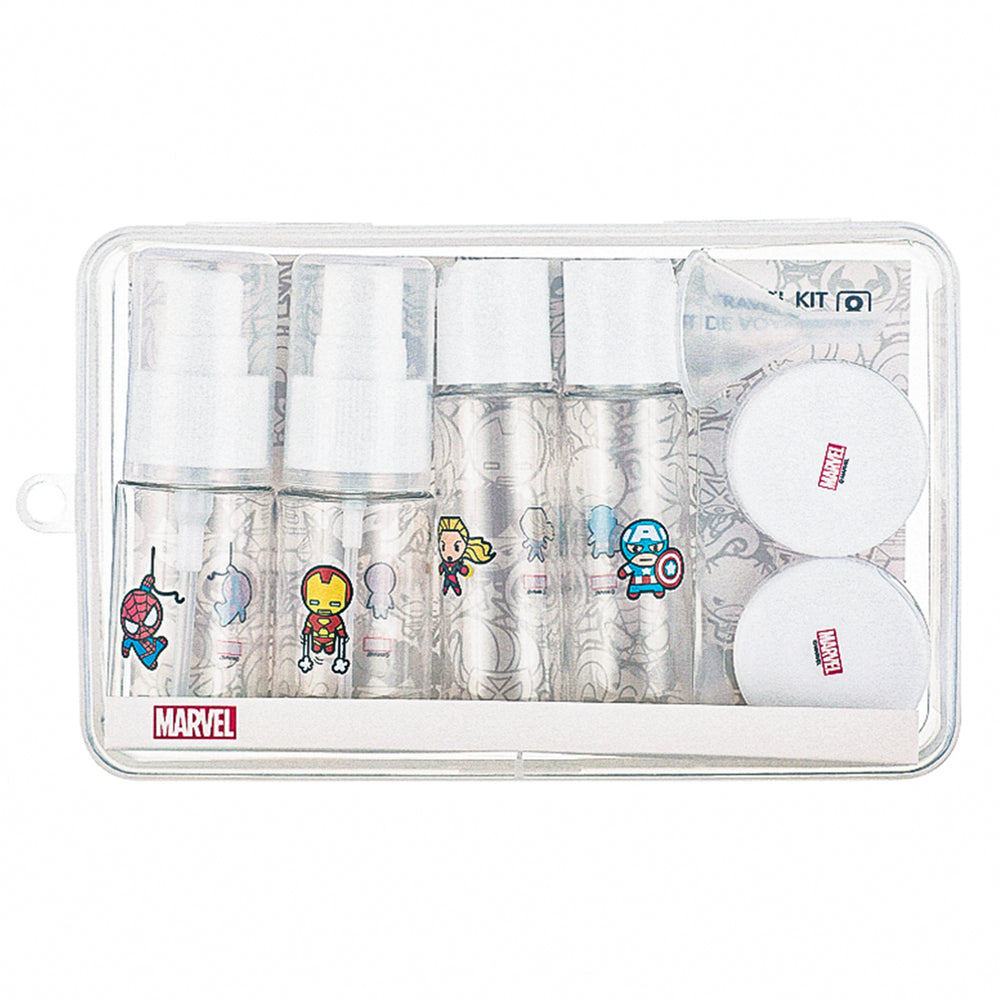 MINISO x Marvel - 8 Pieces Travel kit Bottle & Jar Set