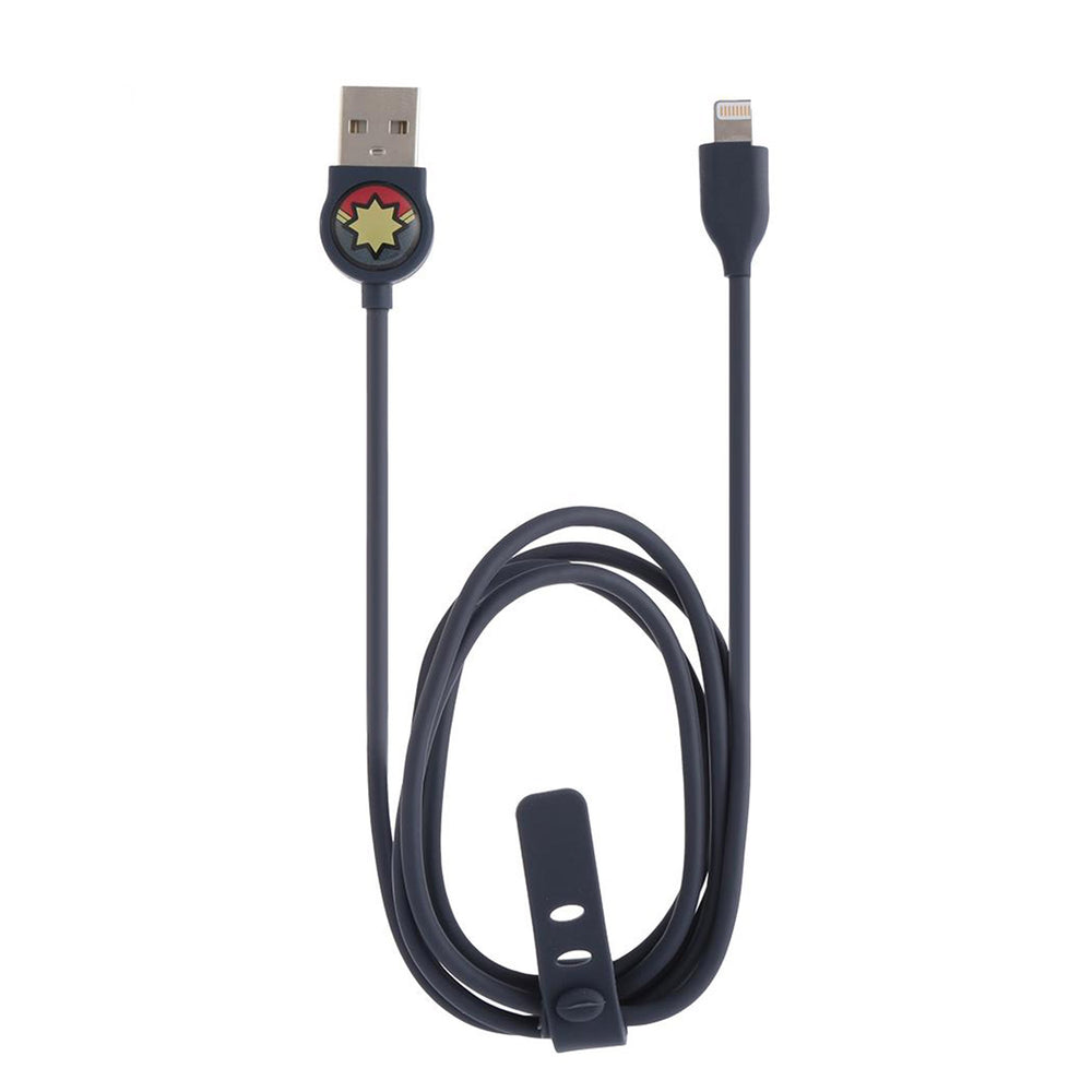Load image into Gallery viewer, MINISO x Marvel - USB Charging Cable With Lightning Connector,  Captain Marvel