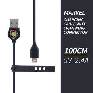 MINISO x Marvel - USB Charging Cable With Lightning Connector,  Captain Marvel